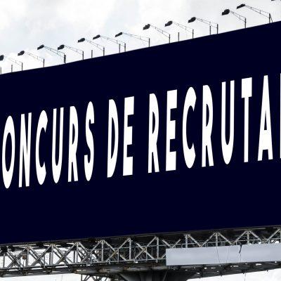 Concurs recrutare